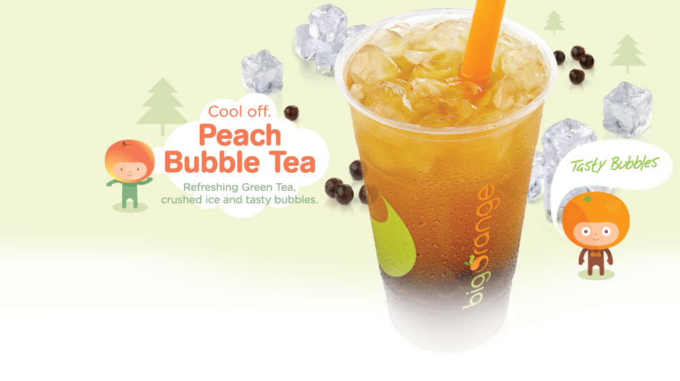 Big Orange Peach Bubble Tea